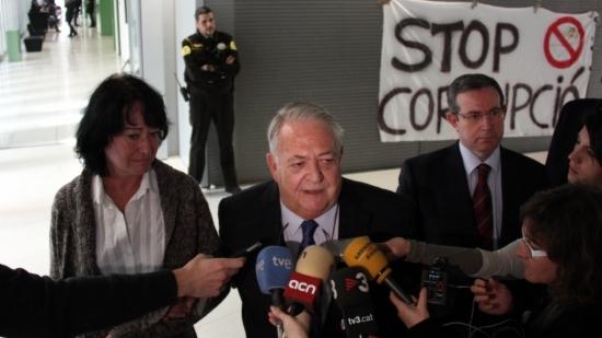 L'històric diputat de CiU, Jaume Camps, després de declarar ler la seva imputació en el cas Palau de la Música