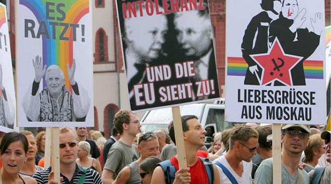 Manifestación en favor de los derechos de adopción de los homosexuales en Alemania