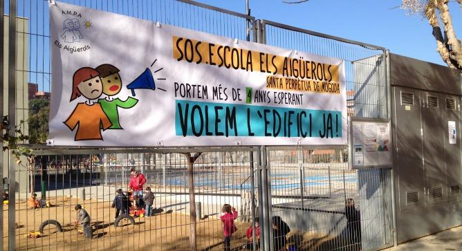 Una de les escoles en lluita, Els Aigüerols a Santa Perpètua de Mogoda