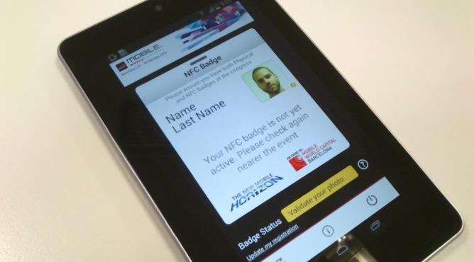 La aplicació NFC Badge que servirà per acreditar-se amb el mòbil al MWC 2013