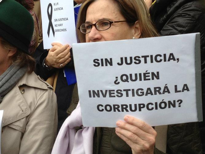 Cinco asociaciones de jueces y fiscales secundan esta huelga
