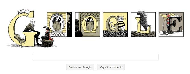 Edward Gorey, homenajeado por el doodle de Google en el 88º aniversario de su nacimiento