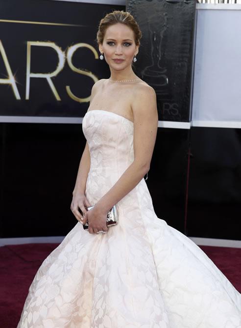 FOTOGALERIA: Jennifer Lawrence, con un Dior rosa empolvado