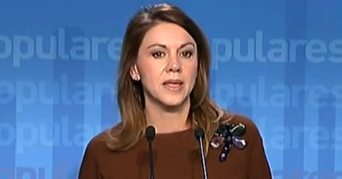 La 'número dos' del PP anuncia que el partido presentará esta semana acciones judiciales derivadas del caso Bárcenas