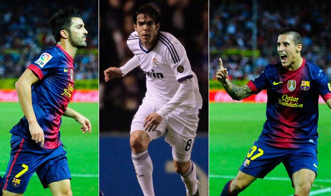 David Villa, Kaka o Tello esperan una oportunidad en las semifinales de Copa