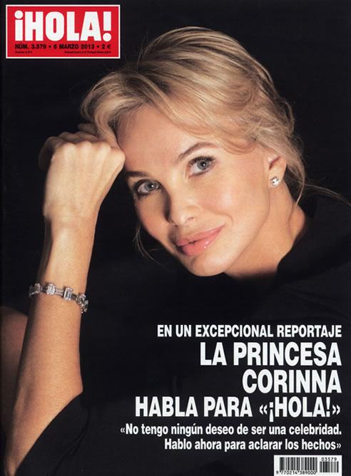 La princesa Corinna zu Sayn-Wittgenstein, en la portada de la revista '¡Hola!'