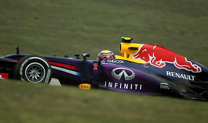 Webber rueda en Montmeló