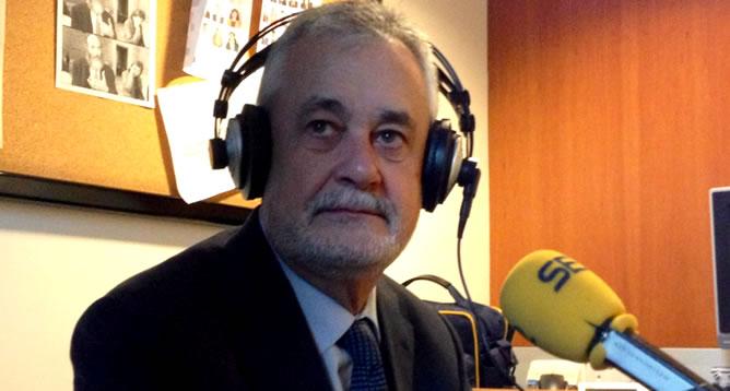 El presidente andaluz, José Antonio Griñán, celebra en la SER el Día de Andalucía