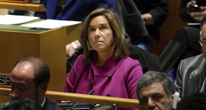 """La ministra española de Sanidad, Servicios Sociales e Igualdad Ana Mato asiste a la 57ª Comisión de la ONU sobre la Mujer bajo el título """"Sobre la eliminación de la violencia de género"""" celebrado en la sede de dicho organismo en Nueva York"""