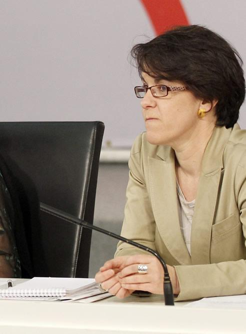 La secretaria de Igualdad del PSOE, Purificación Causapié en un acto el partido.