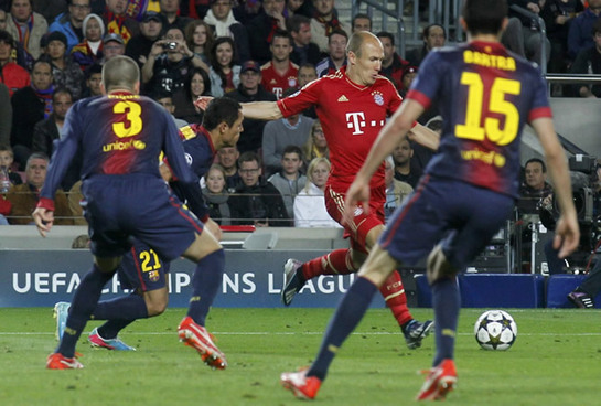 FOTOGALERIA: Robben en el instante antes de marcar
