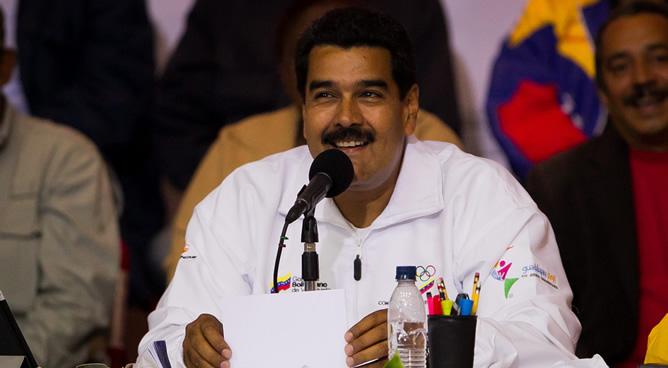 El presidente de Venezuela, Nicolás Maduro, en un acto de conmemoración dirigido a los trabajadores del sector público, por el día del Trabajo