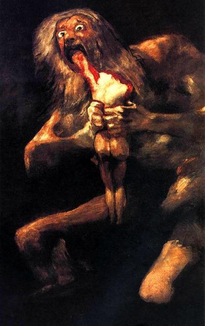Saturno devorando a su hijo. (Goya)