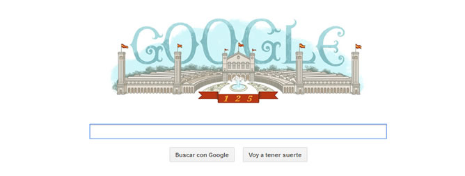 El doodle de Google de la Exposición Universal de Barcelona de 1888.