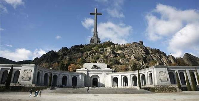 Una panorámica de El valle de los Caídos.