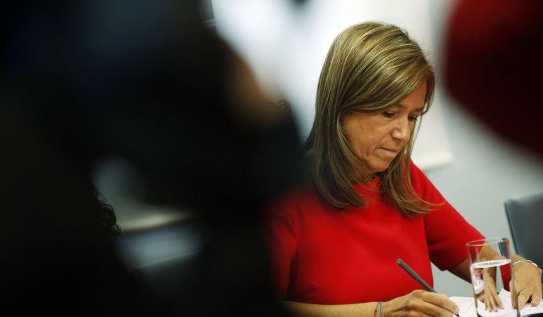 Ana Mato, en los momentos previos a una rueda de prensa