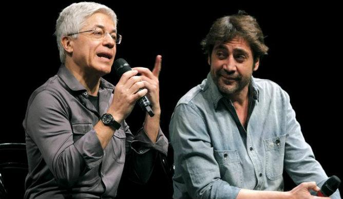 Juan Carlos Corazza con Javier Bardem