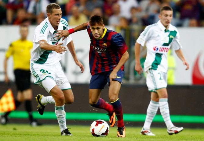El Barça empata en Polonia en el debut de Neymar