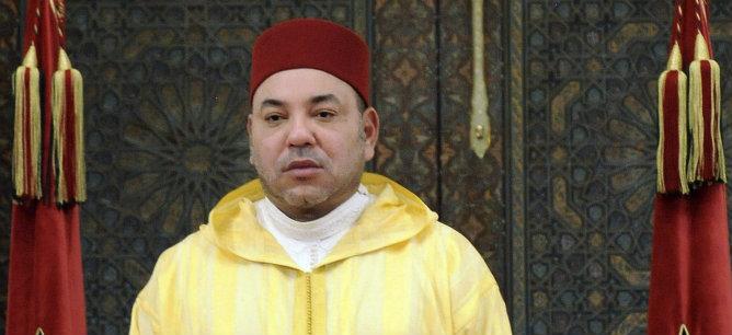 El Rey Mohamed VI de Marruecos durante un discurso en la Fiesta del Trono
