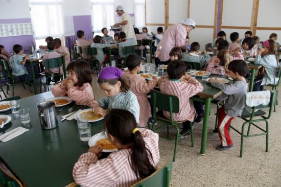 Imatge d'un menjador escolar