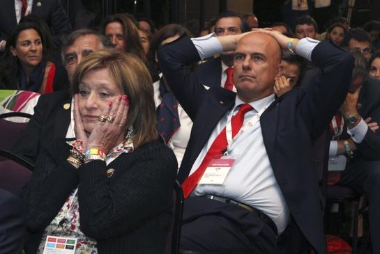 FOTOGALERIA: Decepción en la delegación española