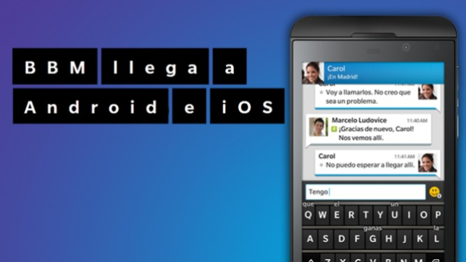 BlackBerry Messenger, en Android y iPhone