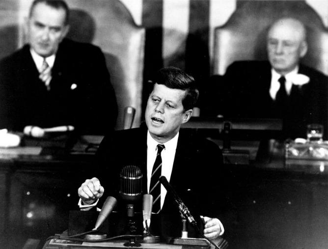 El presidente estadounidense John Fitzgerald Kennedy.