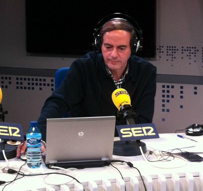 El periodista Isaías Lafuente en el programa 'La Ventana'.