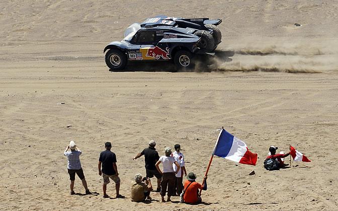 Carlos Sainz, en el Dakar 2014