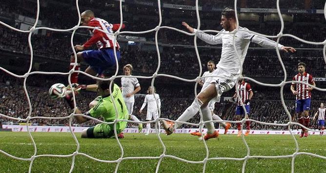 La semifinal entre el Atlético y el Real Madrid, prácticamente sentenciada con el 3-0 para los blancos en la ida que se disputó en el Bernabéu.