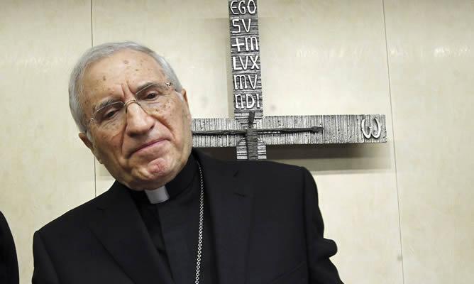 El cardenal arzobispo de Madrid, Antonio María Rouco, deja la presidencia de la Conferencia Episcopa