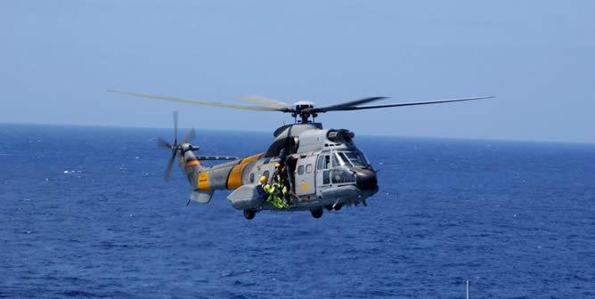 Fotografía de archivo de un helicóptero Super-Puma del Servicio Aéreo de Rescate (SAR) del Ejército del Aire igual al accidentado