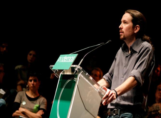 Imagen de Pablo Iglesias en un acto de 'Podemos'
