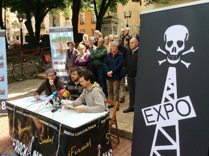 Rueda de prensa de la plataforma 'Fracking Ez'