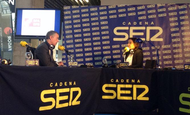Iñigo Urkullu durante la entrevista con Pepa Bueno en 'Hoy por Hoy' este lunes
