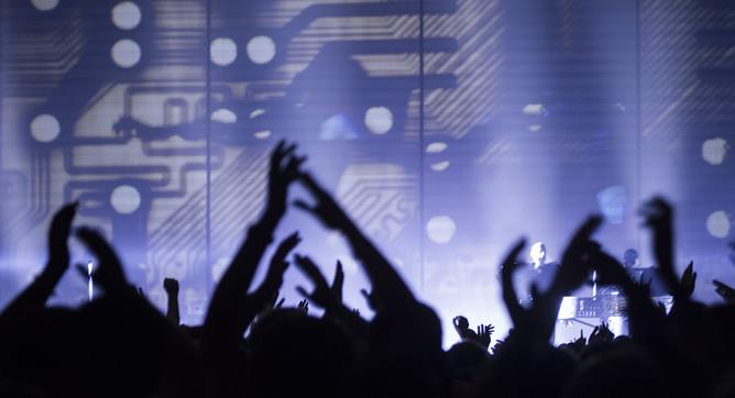 Pet Shop Boys, durante su actuación en el Sónar 2013