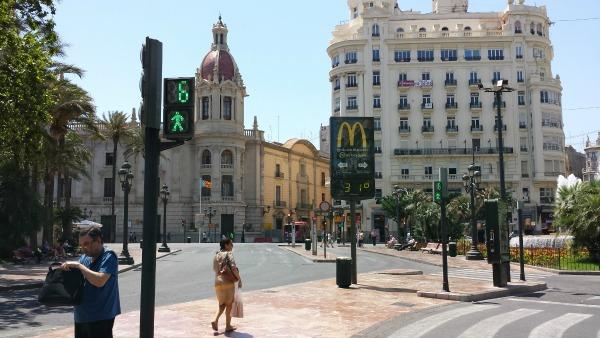 semáforos por habitante. Top Valencia
