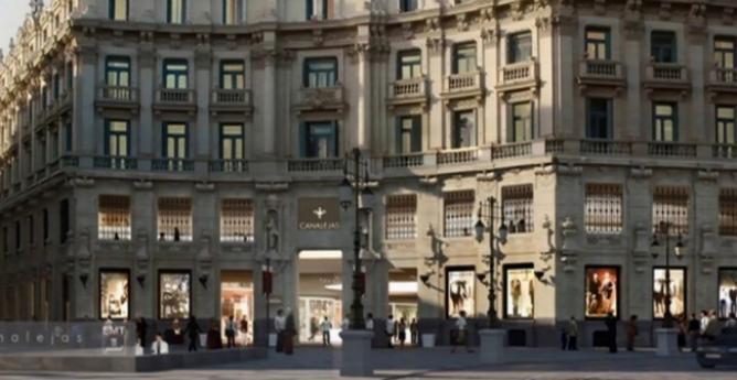 Algunos de los edificios más emblemáticos de la plaza de Canalejas