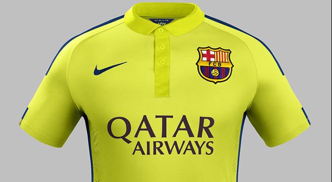 La tercera equipación del FC Barcelona será completamente amarilla