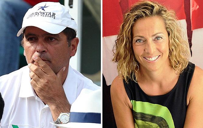 Toni Nadal, tío y entrenador de Rafa Nadal, y Gala León, nueva capitana del equipo español de la Copa Davis