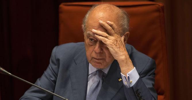 El expresidente de la Generalitat, Jordi Pujol, durante su comparecencia ante la comisión de Asuntos Institucionales del Parlament de Cataluña donde ha acudido para explicar sus cuentas en el extranjero.
