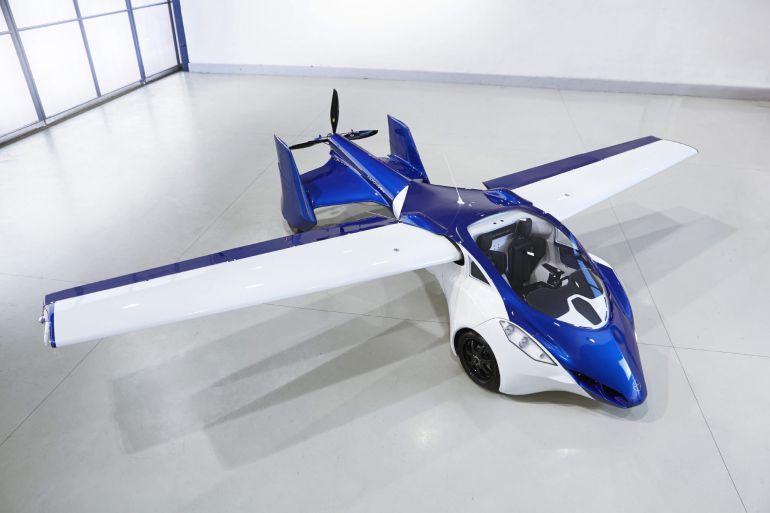Imagen del coche volador, el AeroMobil 3.0