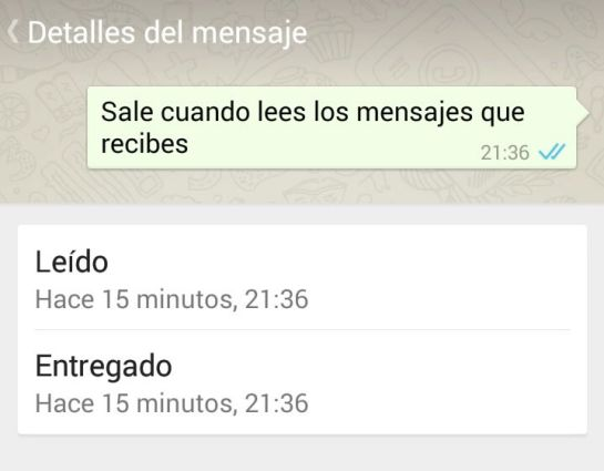 Doble 'check' azul de Whatsapp