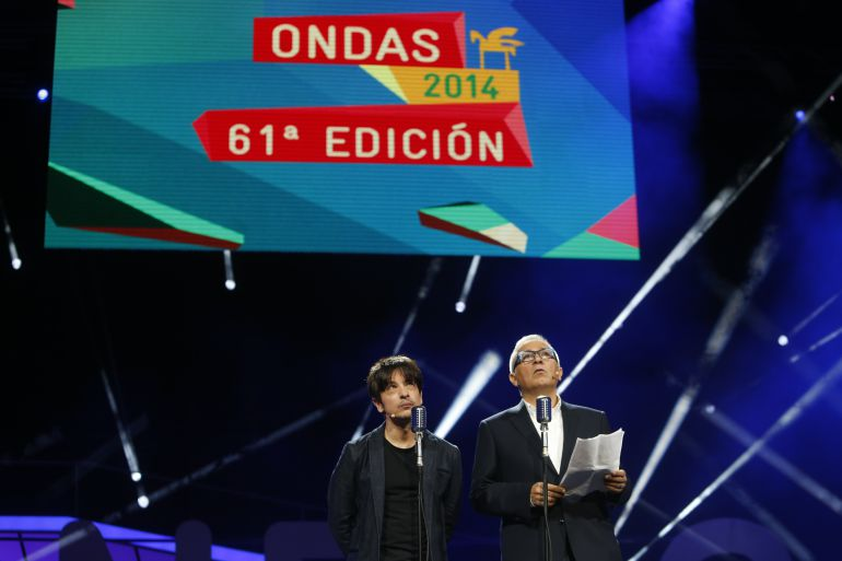Ortega y sardá en la Gala de los Ondas 2014.