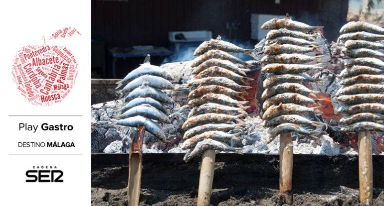 Espetos de sardina en la Costa del Sol.