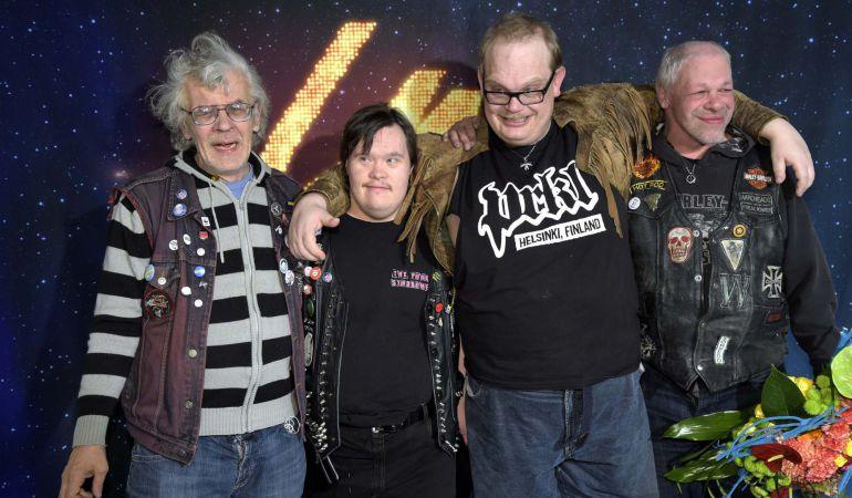 Los componentes de 'Pertti Kurikan Nimipaivat (PKN)', representantes de Finlandia en Eurovisión.