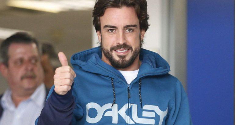 Fernando Alonso, a su salida del hospital el pasado 25 de febrero.