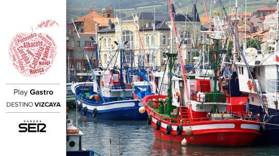 Barcos de pesca atracados en el puerto de Bermeo.