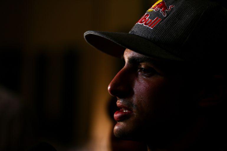 Primer plano de Carlos Sainz Jr.