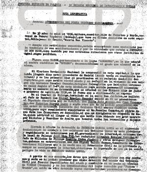 Informe sobre la muerte de Lorca.